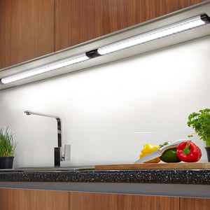 Albrillo LED Under Cabinet Lighting Dimmable Cool White 6000K, 12W 900 Lumens, 3 Pack