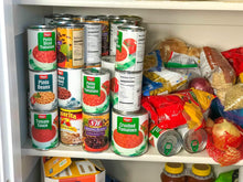 Load image into Gallery viewer, Shop for fifo can tracker stores 54 cans rotates first in first out canned goods organizer for cupboard pantry and cabinet food storage organize your kitchen made in usa