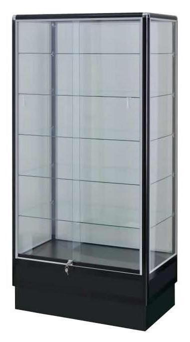 Locking Display Case-Black Electrophoresis Aluminum Display Cases