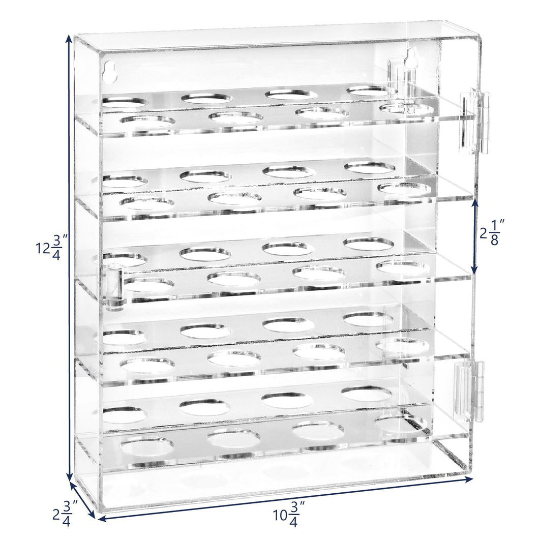 #COTMG4020 Acrylic Mountable Golf Display Cabinet for 20 Golf Balls with Mirrored Back