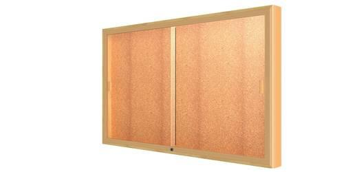 Legacy Wall-Mounted Display Cabinet with Cork Back, 60