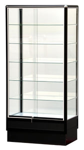 Wall Display Cases With Black Aluminum Frame - 72 x 34 x20 - Inch