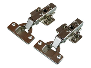 Soft Close Clip On Full Overlay Hinge - 105 Deg - 15mm Side