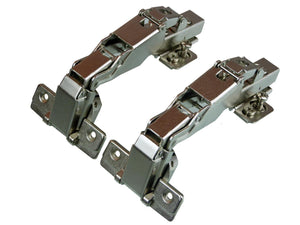 Soft Close Clip On Half Overlay Hinge - 165 Deg - 18mm Side