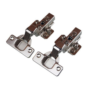 Clip On Half Overlay Hinge - 110 Deg - 15mm Side