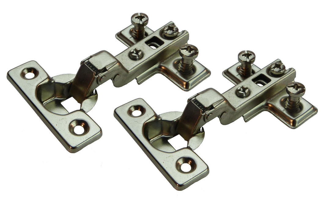 Half Overlay Mini Door Hinge - 95 Deg -18mm Side