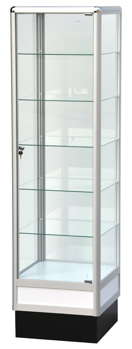 Glass Cabinet With Aluminum Frame - 72(H) x 20(L) x20(D) - Inch