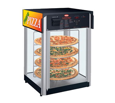 Hatco FDWD1 Flav-R-Fresh® Holding & Display Cabinet, counter model, (1) door, (4) tier interior revolving circular rack & rack motor, 1390W, cULus, UL EPH Classified, ANSI/NSF 4, Made in USA