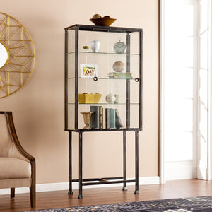 Calypso Sliding-Door Display Cabinet