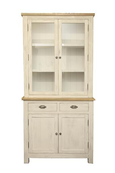 Stunning Sideboard Display Cabinet French Country Chic Distressed Wood