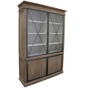 Harlow Display Cabinet Dresser Sideboard / Cupboard Wood & Iron