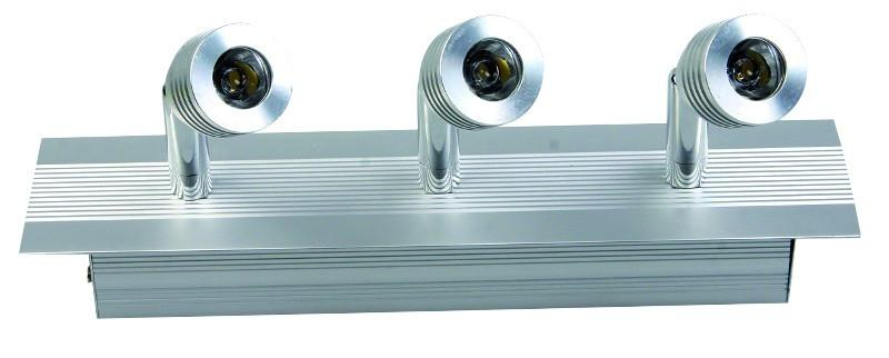 100-240VAC 3 x 1W WARM WHITE LED DISPLAY CABINET FITTING