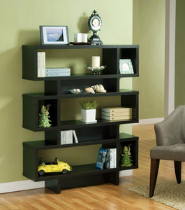Black Display Cabinet/ Bookcase