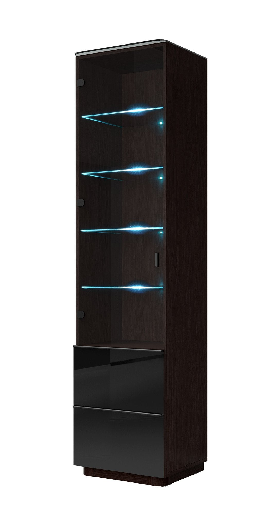 Togo 05 Display Cabinet Gloss Black Glass