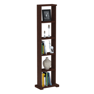 "Alpha Lite Bookshelf & Display Cabinet with 5 shelf, 54"" high -Classic Wenge"