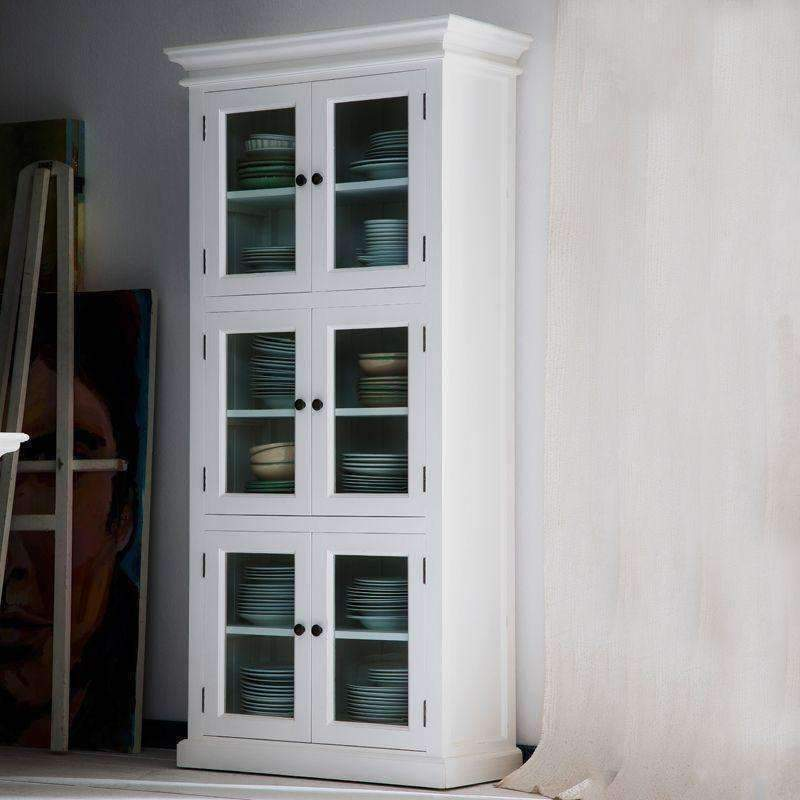 Halifax White Painted 3 Level Pantry Display Cabinet