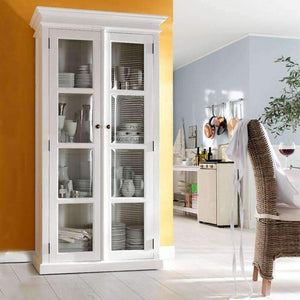 Halifax White Painted Glazed Display Cabinet