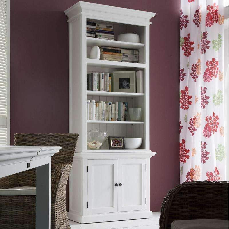 Halifax White Painted Single Bay Hutch Display Cabinet