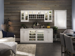 Home Bar 2 Piece Cabinet Set - 21""