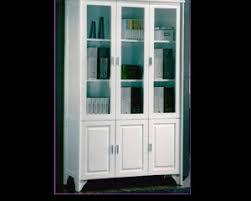 Glass Display Cabinet White