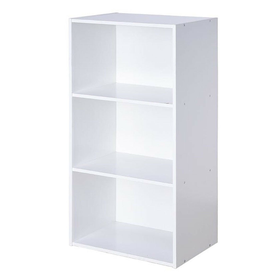 3 Open Shelf Bookcase Modern Storage Display Cabinet-White