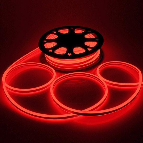 DELight Flex LED Neon Rope Light 50ft Red
