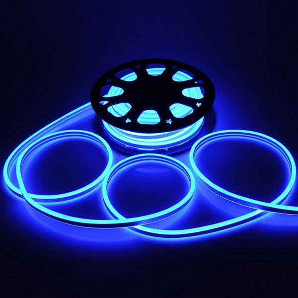 DELight Flex LED Neon Rope Light 50ft Blue