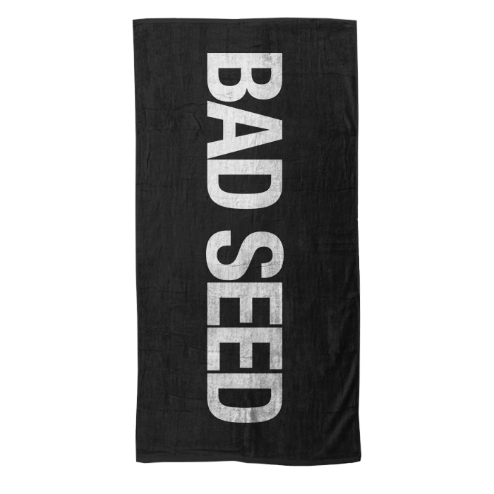 BAD SEED BLACK BEACH TOWEL