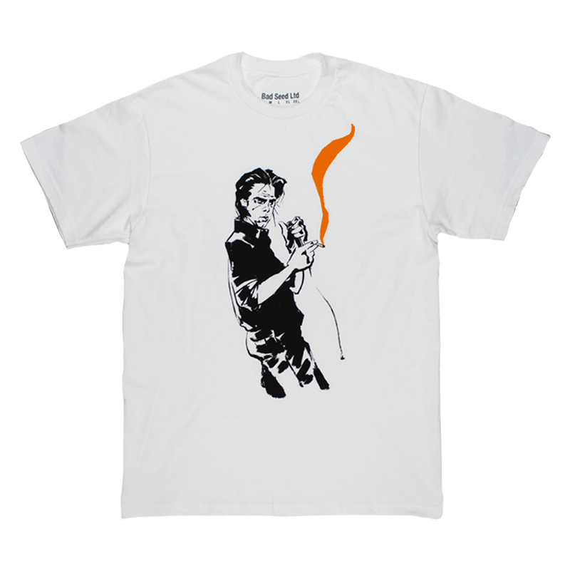 REINHARD ORANGE SMOKE WHITE T-SHIRT