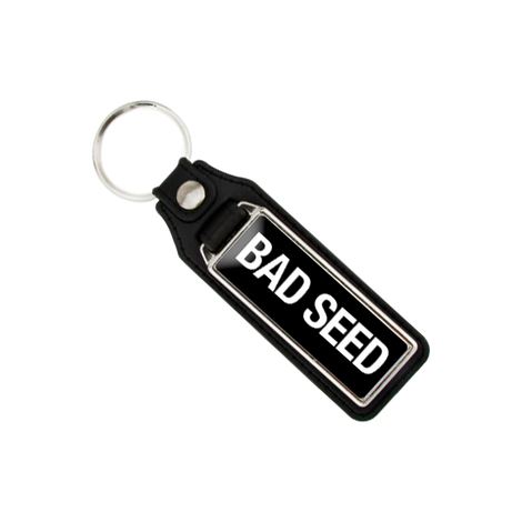 LEATHER BACKED BAD SEED KEYRING