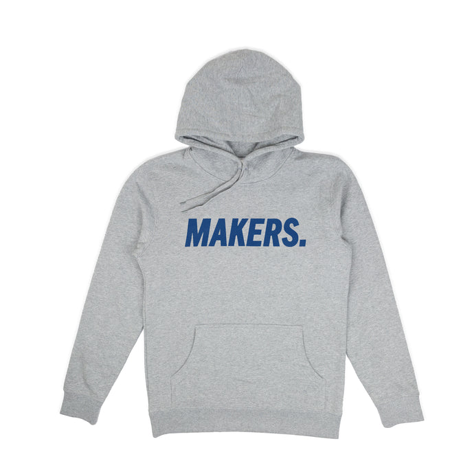 Tall Hoodie Grey - Makers Apparel