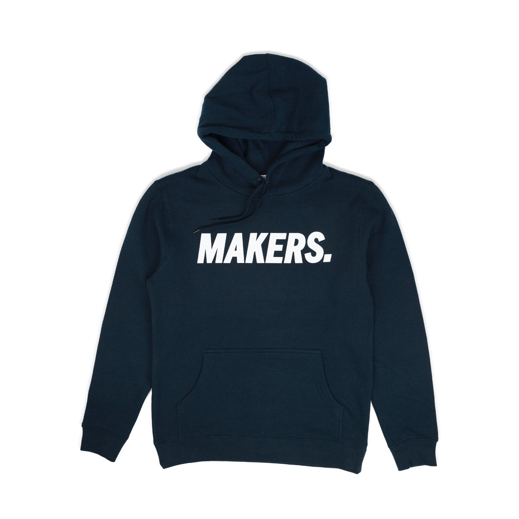 Tall Hoodie Navy - Makers Apparel
