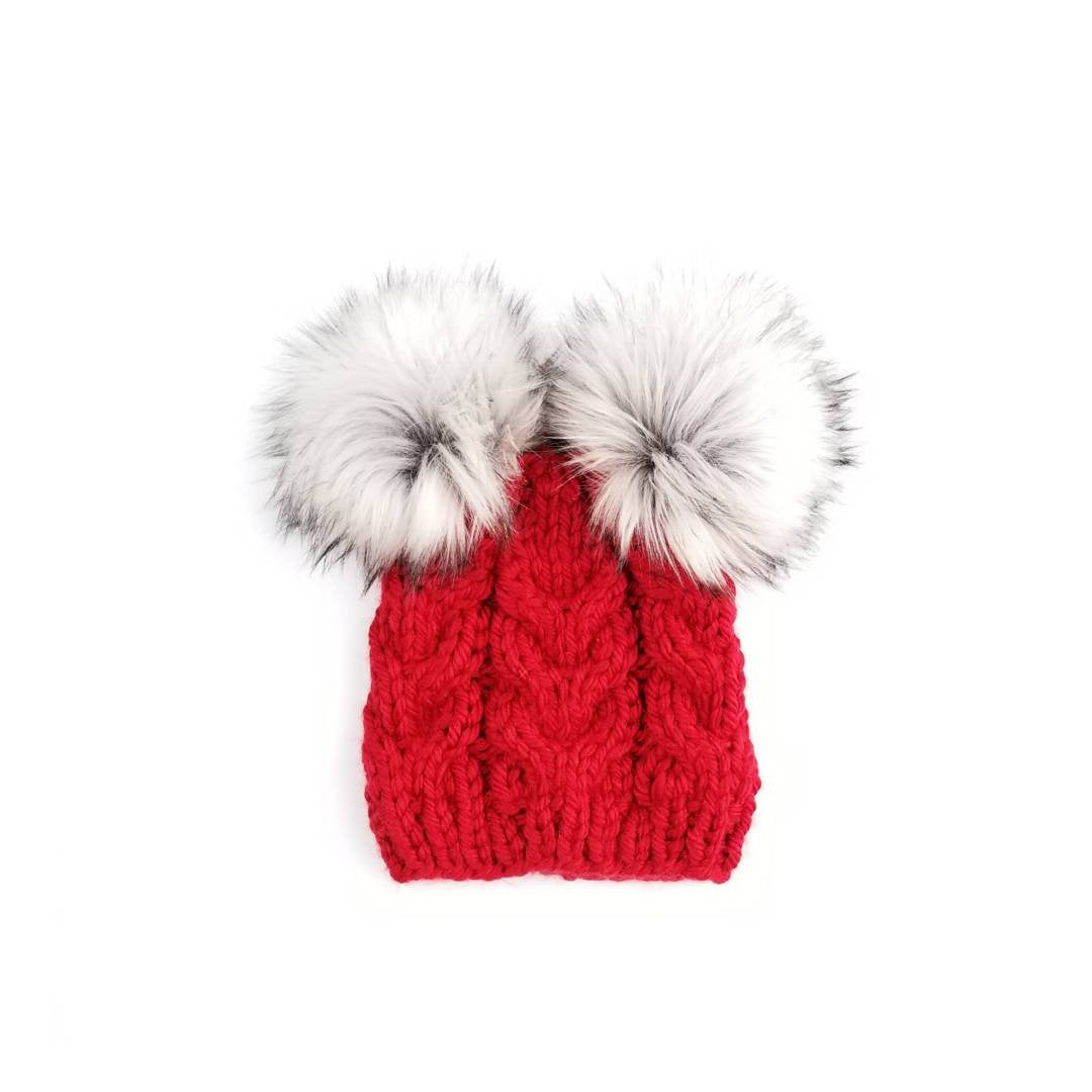 14df859a Mommy and Baby Hats with Double Pom Pom Beanie – MakeMyDaisies