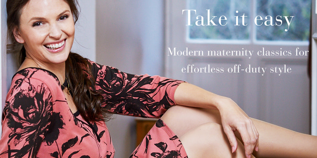 Modern maternity classics for effortless off-duty style