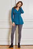 Top Molly long sleeve teal - LOVE MILK