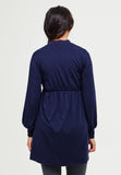 Midnight blue maternity & nursing long sleeve tunic