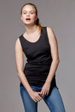 Nursing & maternity tank Emma, black - LOVE MILK