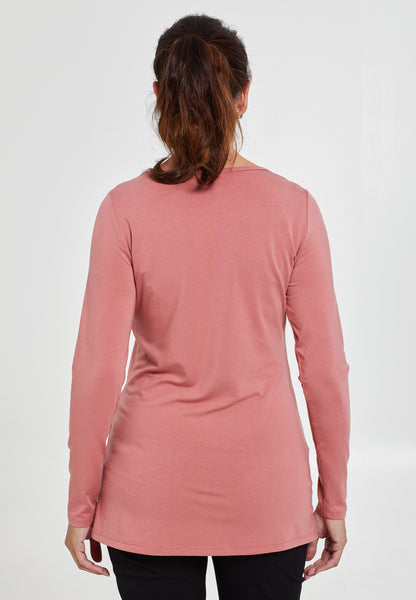 Pink v-neck maternity & nursing top - LOVE MILK