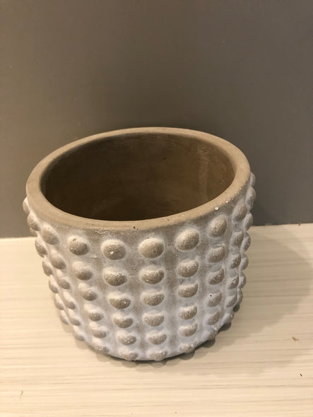 "Stone geo dotted pot 4""-5"""