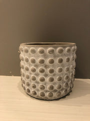 "Stone geo dotted pot 5""-6"""