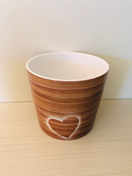 Cache-Pot Timber Heart ❤️