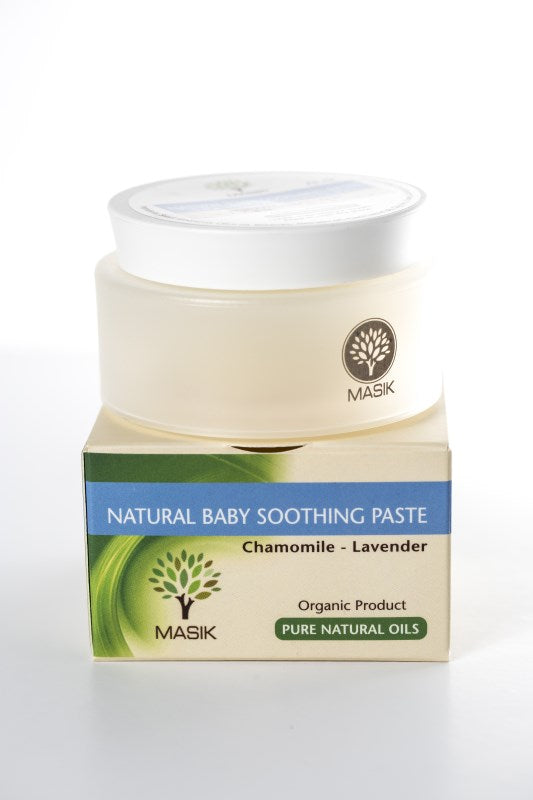 Masik Baby Soothing Cream 100% Natural CHAMOMILE - LAVENDER - OLIVE OIL