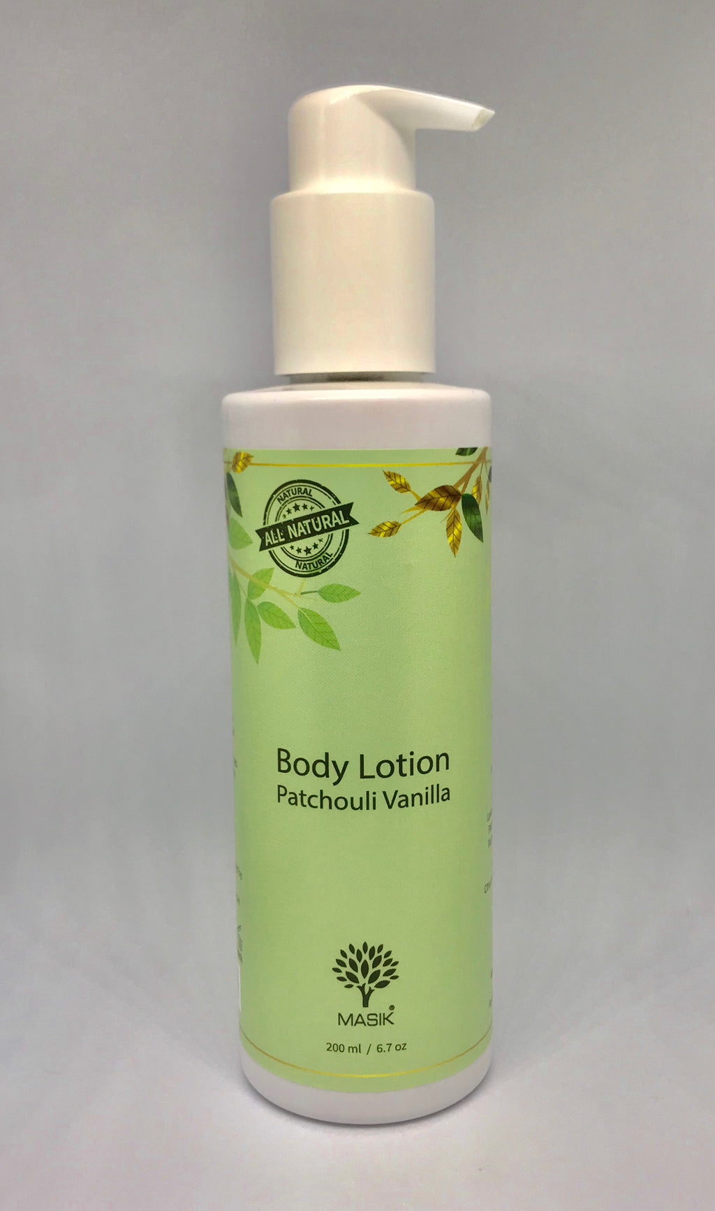 Masik Body lotion - Patchouli Vanilla 100% Natural -olive oil - essential oils