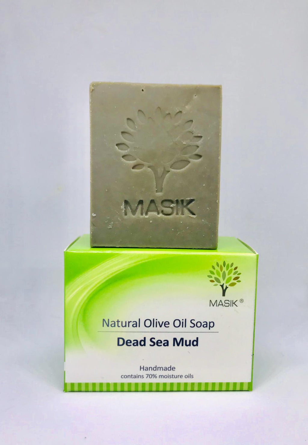 Masik 100% natural black soap for face , anca treatment ,with green clay, dead sea mud & minerals