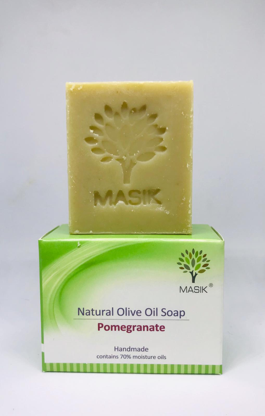 NATURAL Pomegranate Soap with olive oil & essential oils -MASIK