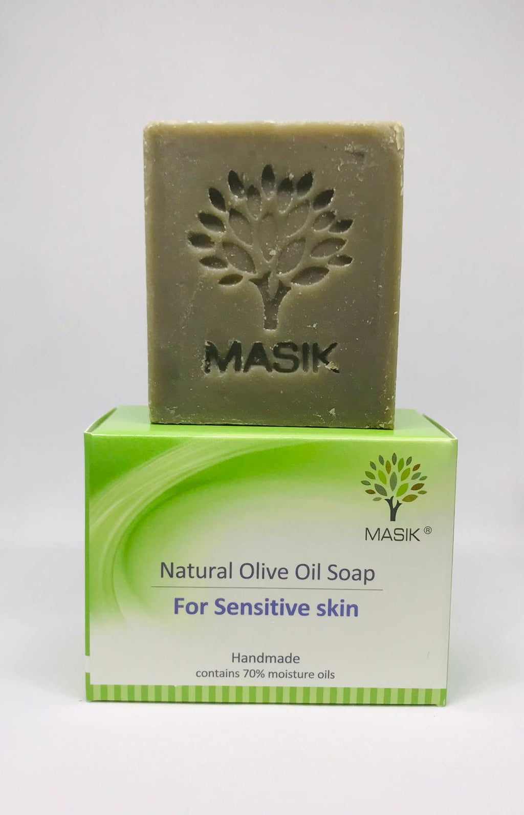 Natural mud soap for damaged skin -for sensitive skin - masik