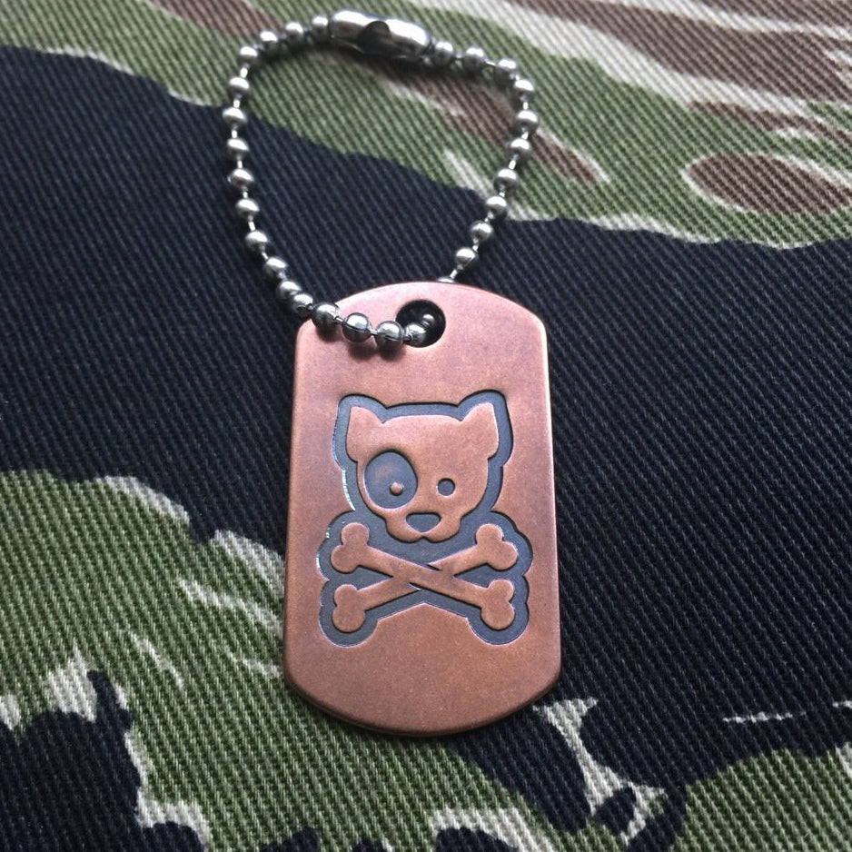 Steel Flame Copper Dog Tag - Kiloniner