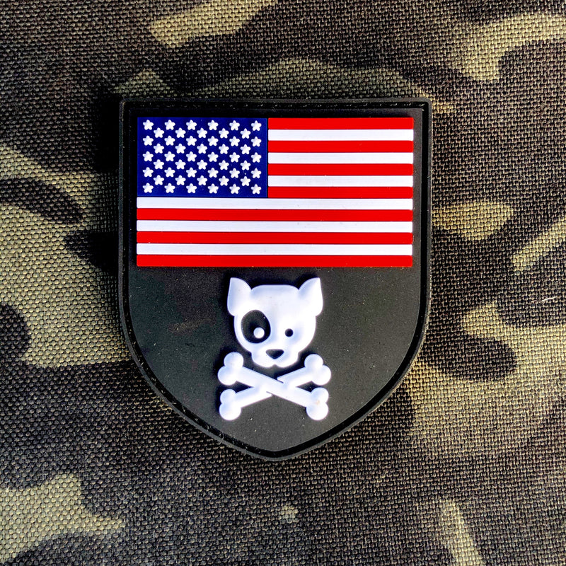 American Crossbones PVC Patch Large Morale Patch