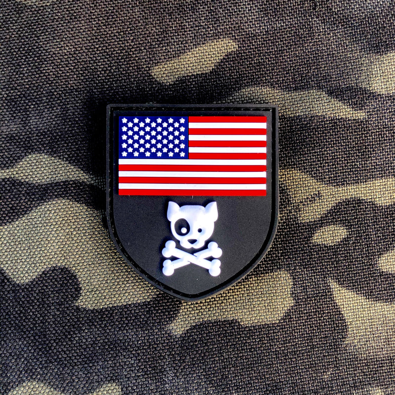 American Crossbones PVC Patch Mini Morale Patch