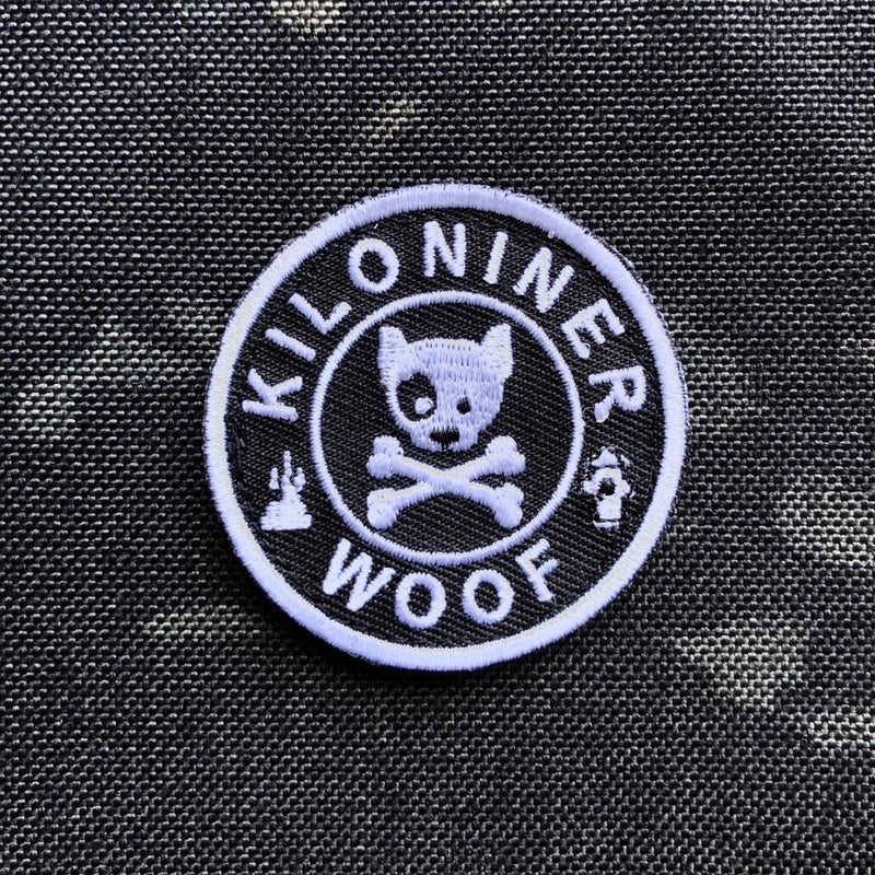 Mini Dog and Crossbones Patch - Black and White - Morale Patch